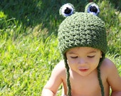 Adorable Frog Beanie - Photo Prop - Sz NB - 5T