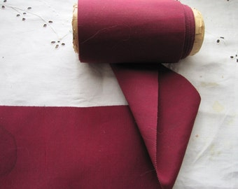 Vintage wide ribbon burgundy 1930s  4 1/8 inch cranberry red Y335