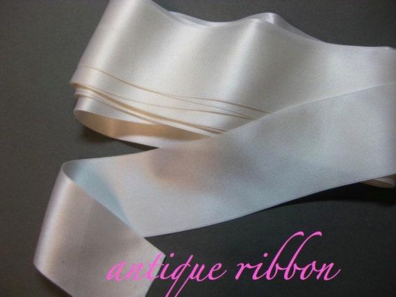 Vintage ribbon vintage Edwardian silk 2 inch white Y970