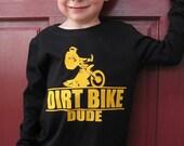 Dirt Bike Dude Baby and Kids Long Sleeve T-Shirt