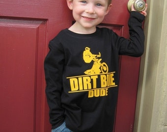 Dirt Bike Dude Baby and Kids Long Sleeve T-Shirt