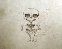 Little My Skeleton Print 8x10