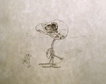 Woodstock Skeleton Print 8x10