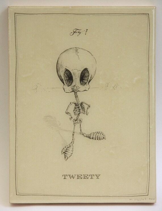 Tweety Skeleton (Last one on Panel)