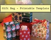 Printable Bag TEMPLATE - Make Your Own Gift Bags