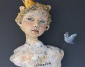 Clouds ceramic sculpture by artist Victoria Rose Martin