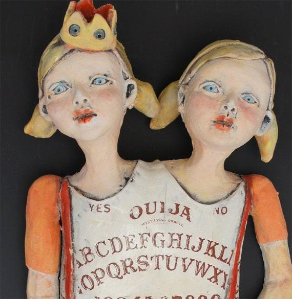 La Ouija ceramic wall sculpture by artist Victoria Rose Martin
