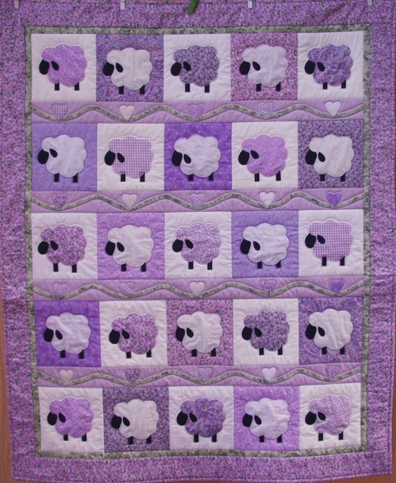 Lavender Lamb Quilt