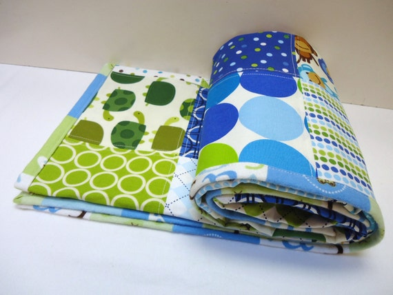 ANN KELLE'S BLOG  -  Blue n Green Mix baby boy blanket