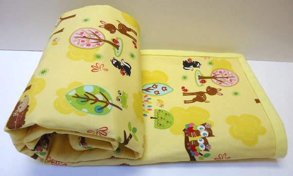Hoos' in the Forest Baby Blanket Set