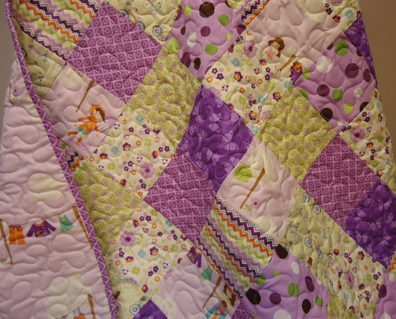 Dress Up Days Baby Girl Quilt