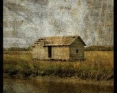 Boathouse No. 1 - 8 in x 8 in Altered Photograph