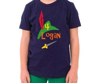 Peter Pan Birthday Shirt Personalized
