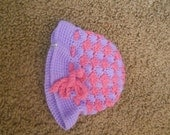 0 to 6 months Pink and Lavendar Baby Cloche Hat