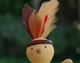 Native American Chick Figurine