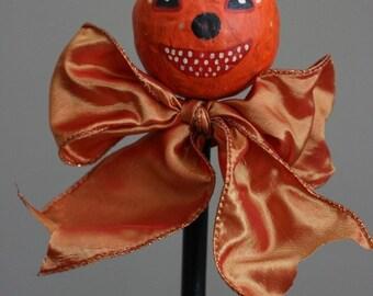 Smiling Jack O' Lantern on Stick