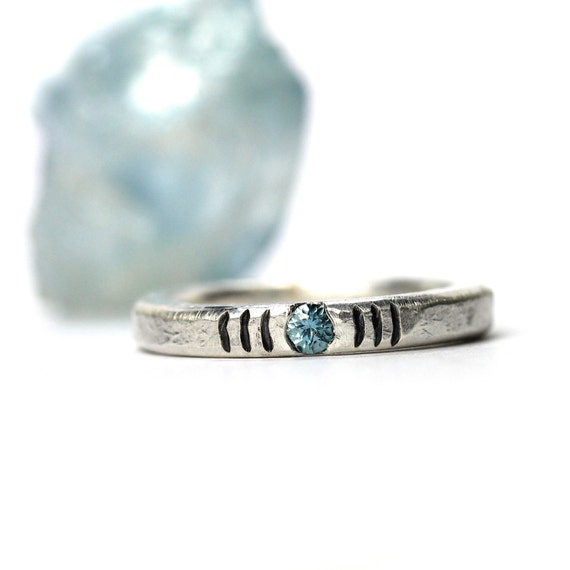 Sterling Silver Ice Blue Aqua Wave Ring - Chill Wave