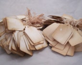 100x  WilWest Old Fashion Wedding favor  tags hanging string labels perfect for Antique and  Vintage resale