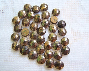 copper glass vintage nailheads 3mm