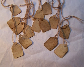 Old fashion distressed price tag labels paper string hanging tags 150x