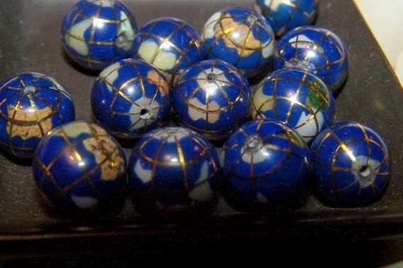 Amazing Globe beads Gem Earth Beads really unique