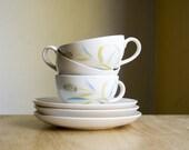 Vintage Kasuga Cups and Saucers, Tea for Three