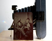 Tintype: Portrait of a Married Couple, Victorian Romance, Ironic Valentine's Day Decor, Man and Woman
