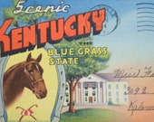 Kentucky Souvenir Postcard Folio