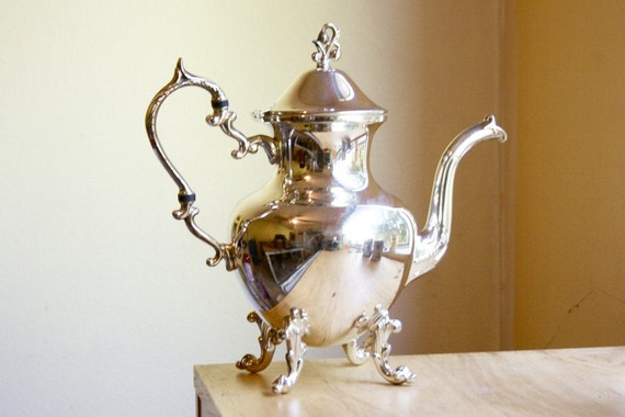 RESERVED Large Silverplate Coffee Pot, by Birmingham Silver Co.