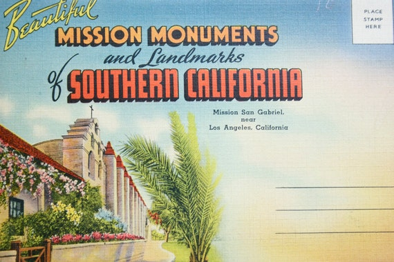 Postcard Collection, Missions of Southern California