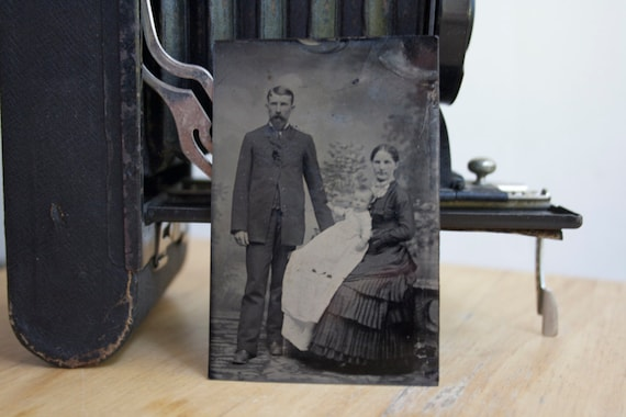 Tintype: Family With Infant