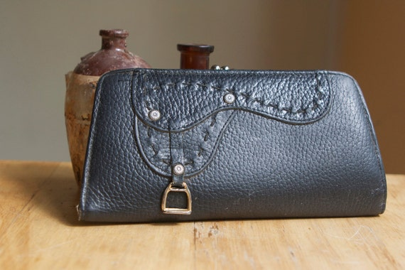 Justin Leather Wallet, With Saddle Design
