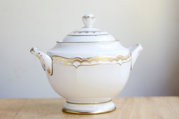 RESERVED for SUZANNE Sugar Bowl, Royal Worcester, Marquis, Luxury Tableware