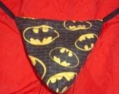 Mens BATMAN G-String Thong Male Lingerie Cartoon Underwear