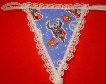 Womens SUPERMAN G-String Thong Lingerie Panty Underwear