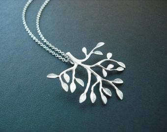 Sterling Silver chain - mod branch necklace