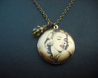 Marilyn Monroe Vignette locket necklace