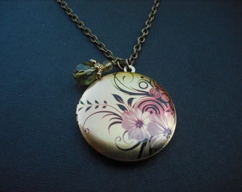 floral spray locket