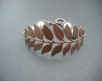 a touch of life bracelet - copper ox brass