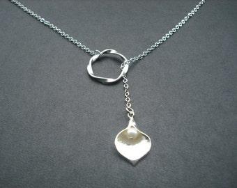 Sterling Silver Chain - Calla Lily lariat