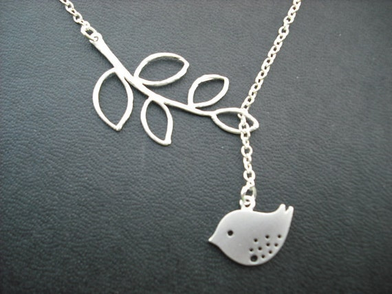 Sterling Silver Chain - sweet little mod bird lariat