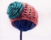 Newborn Girl Hat:  Crochet Bloomin' Beanie