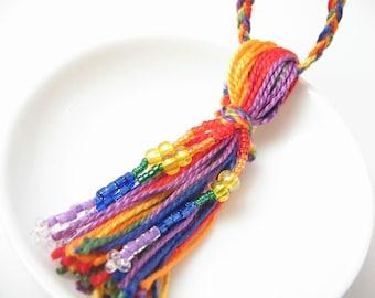 Rainbow Pride Beaded Wedding Tassel Attendant Favor Decoration