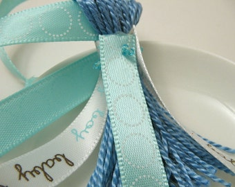 baby boy and Blue Ribbons Blue Baby Shower Decoration Favor Embellishment Tassel