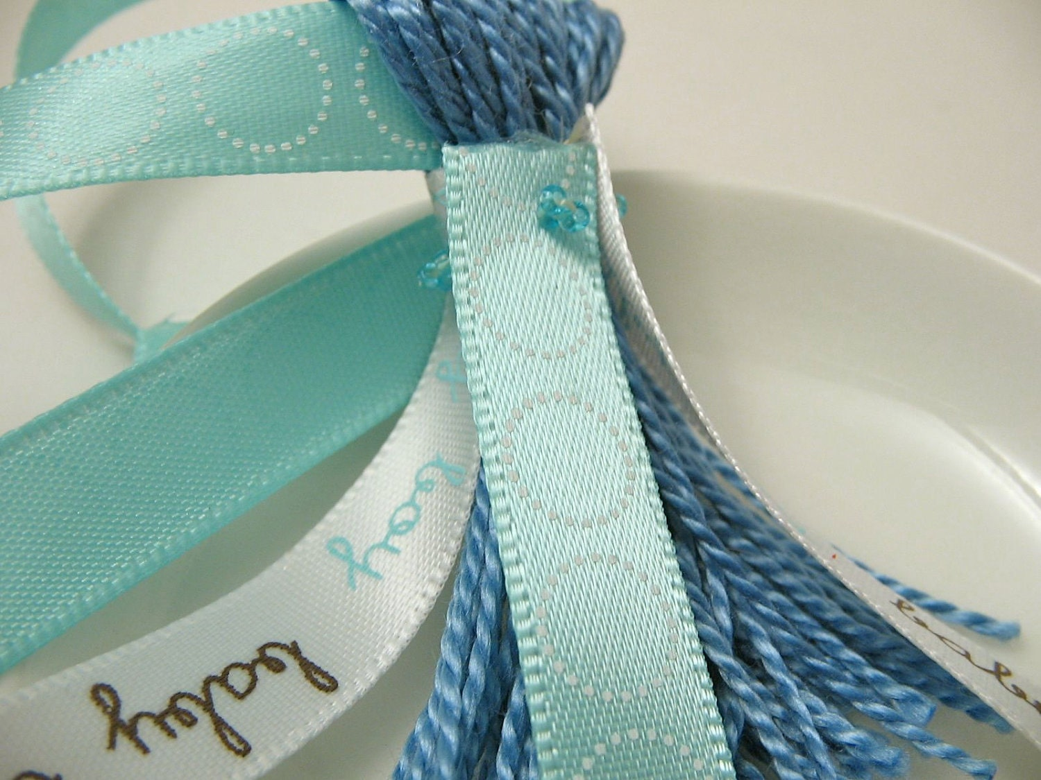 baby boy and blue ribbons blue baby shower decoration favor