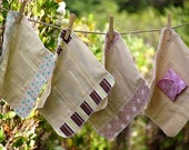 "4 Medium Flow FOLDABLE Cloth Menstrual Pads w/Wings 9"""