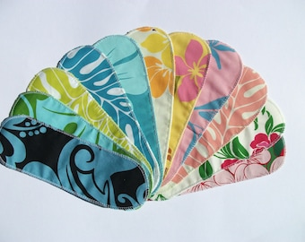 Mystery Pack Set of 20 Aloha Print Cloth Menstrual Pantyliners - Long