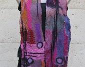 Pink Purple nuno scarf