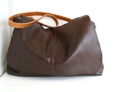 Leather bag, brown leather messenger bag, recycled cross body bag, leather laptop bag, travel bag,