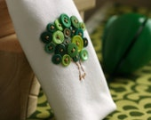 Organic Onesie in Green Button Tree